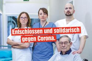 Entschlossen und solidarisch gegen Corona.