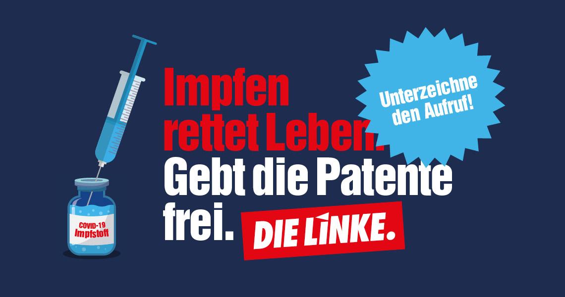 Öffnet die Webseite https://www.die-linke.de/mitmachen/linksaktiv/impfpatente-frei/ in einem neuen Tab.